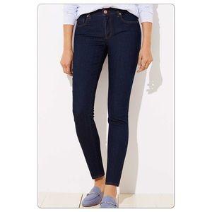LOFT Curvy Skinny Jeans Dark Wash EUC Size 10/30